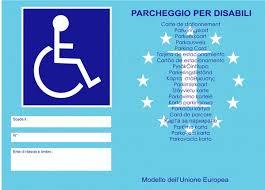Contrassegno disabili